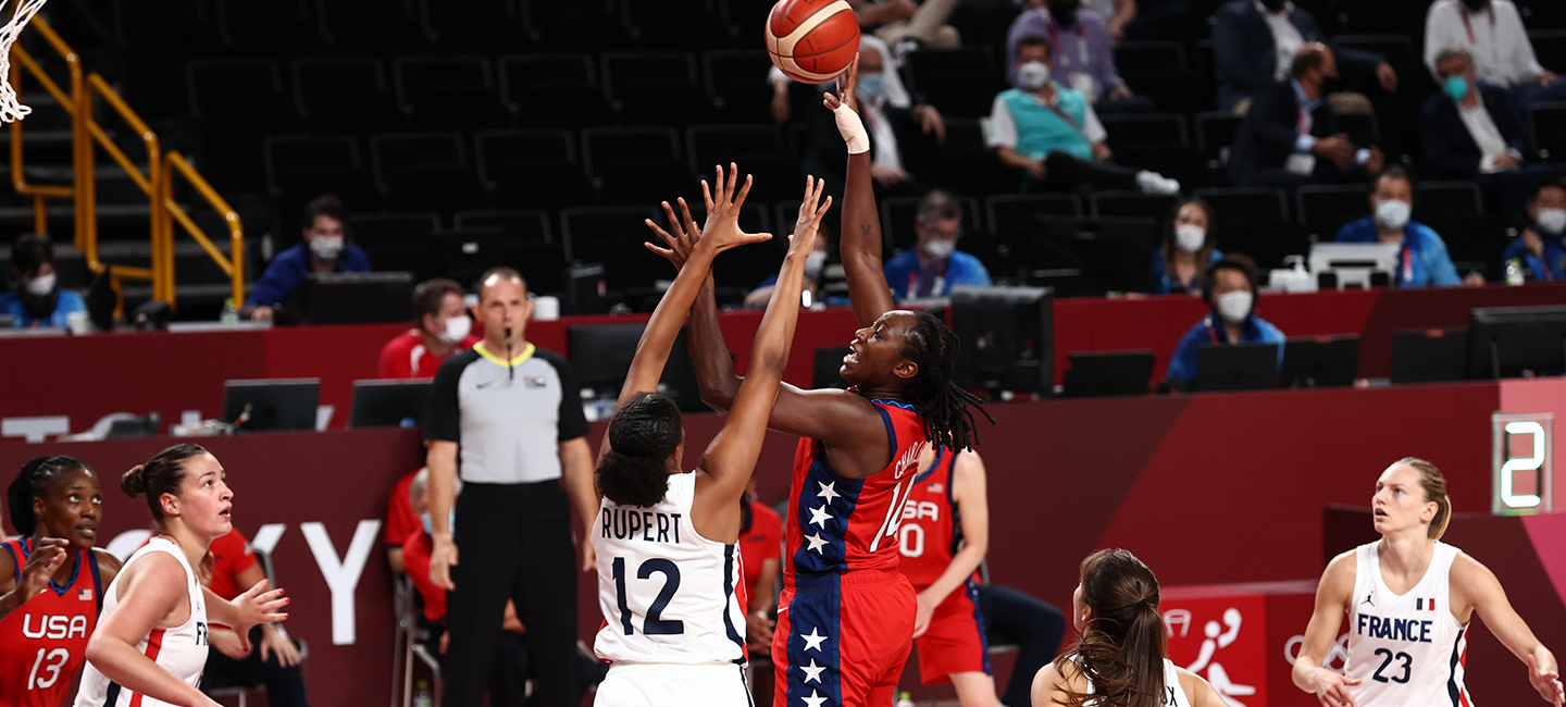 Tina Charles' 3-Pointers Send USA Women Past France in Pool Play Finale