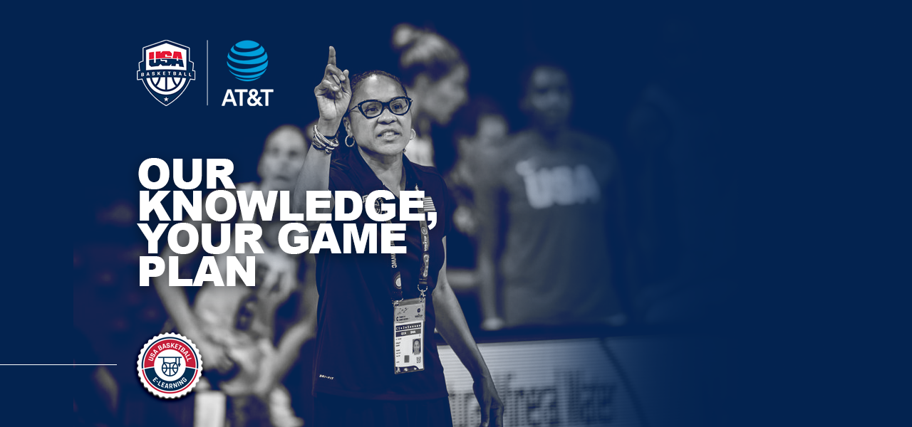 USA Basketball E-Learning graphic with Dawn Staley