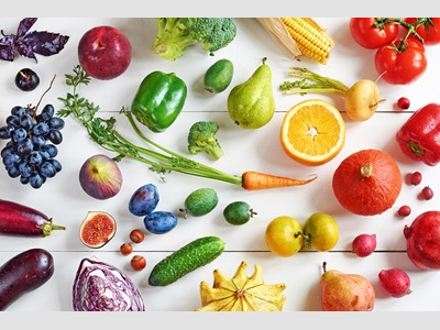 image of colorful fruits and veggies