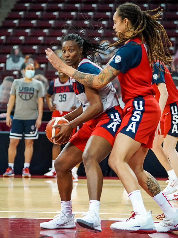Sylvia Fowles guarded by Brittney Grinerjpg