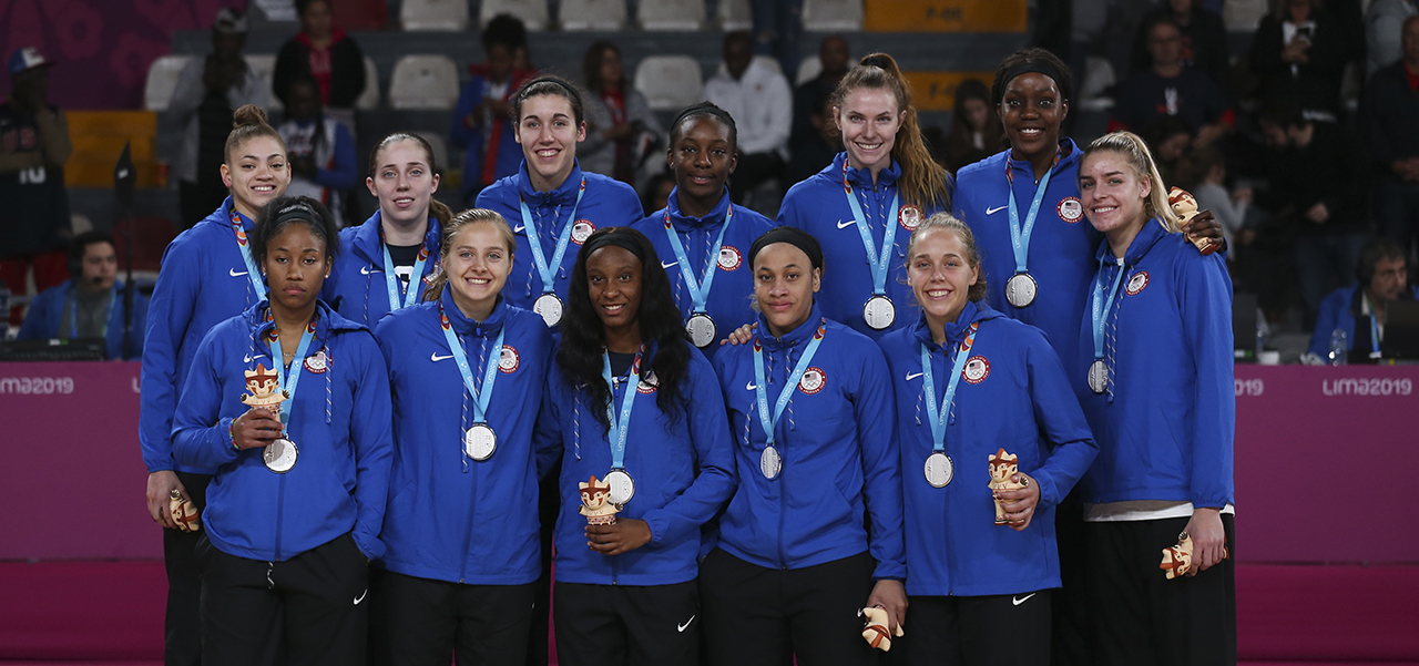 2019 Women's PAG Team Silver Medals