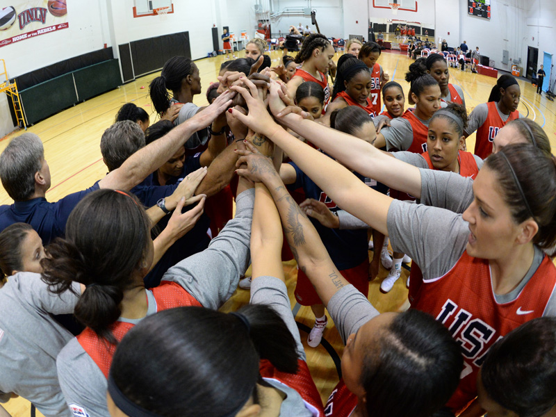 2013 USA Basketball Women's National Team Training Camp Huddle