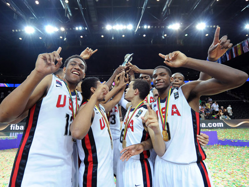 Men's U17 team celebrates FIBA title