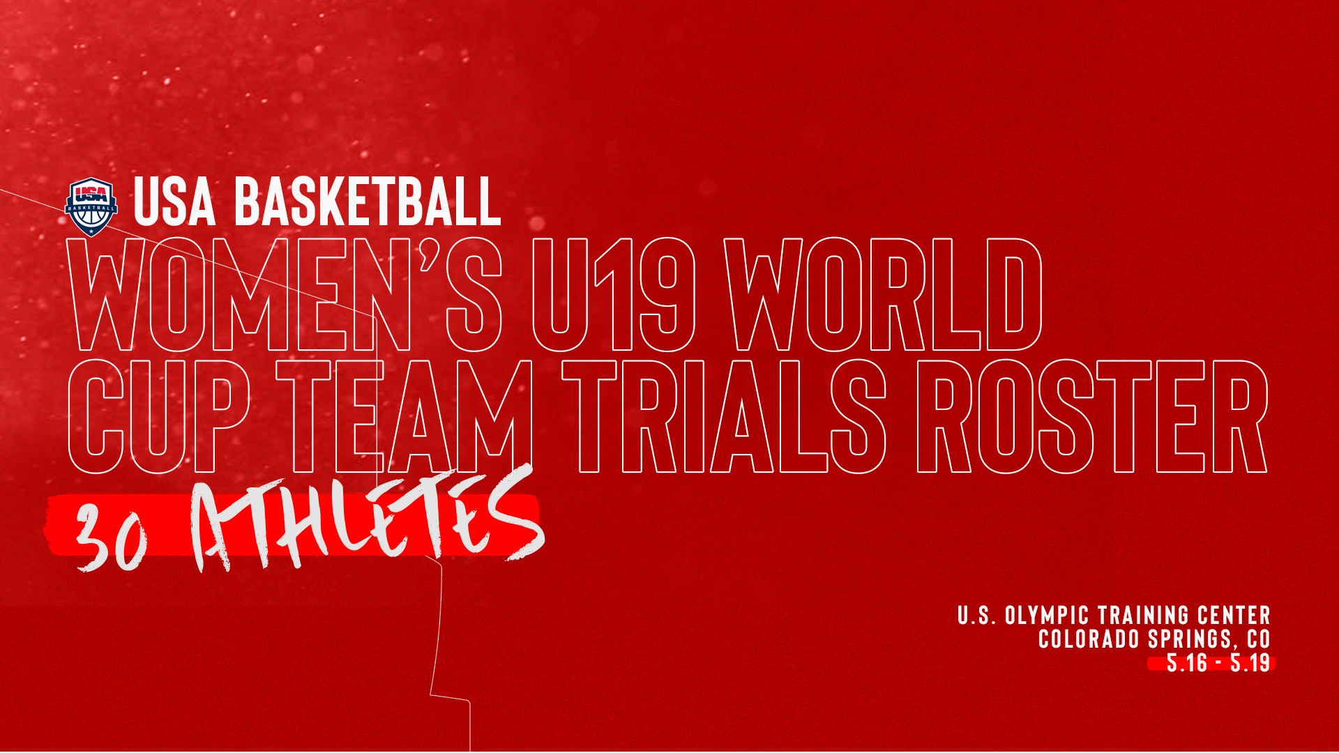 30 Athletes Set to Take Part in 2019 USA Women's U19 World