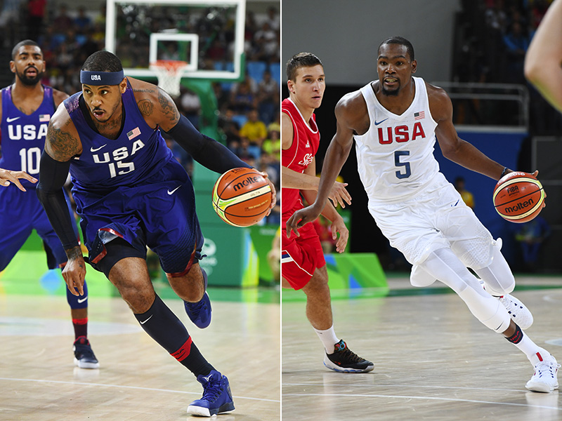 48af5fc1e Carmelo Anthony And Kevin Durant Share 2016 USA Basketball Male Athlete Of  The Year Award