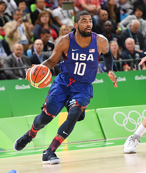 Kyrie Irving had four points, three caroms and four assists.