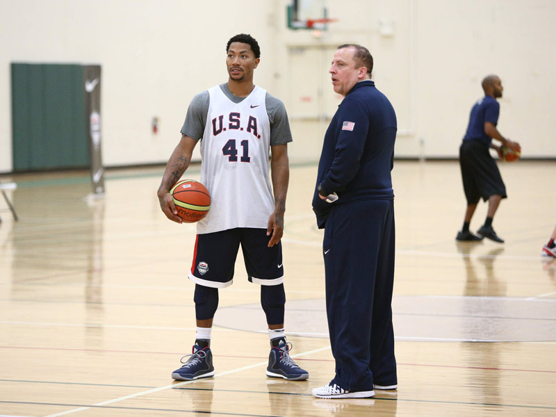 Derrick Rose and Tom Thibodeau