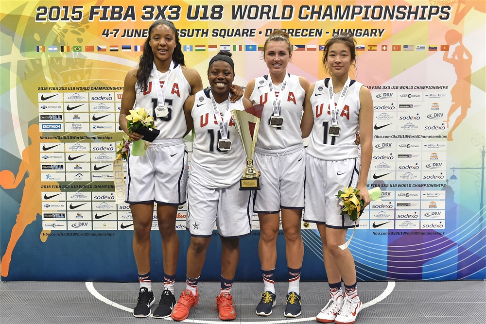 Silver Medalist 2015 USA Women's 3x3 U18 World Championship Team