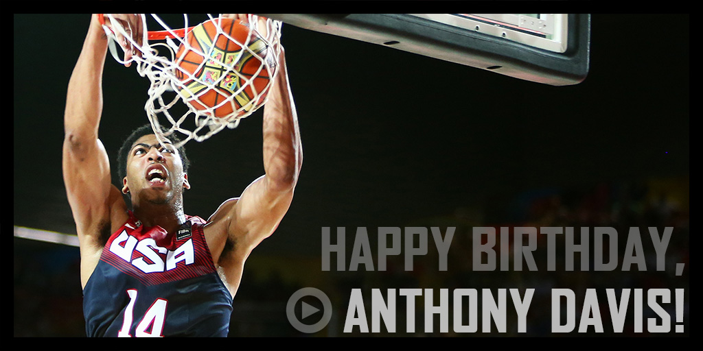 Anthony Davis turns 22