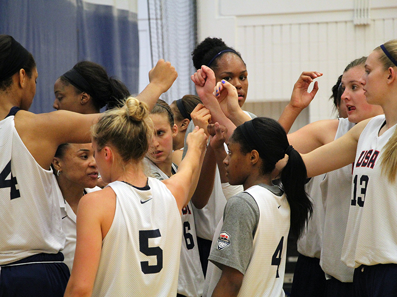 2015 USA Women's U19 Huddle