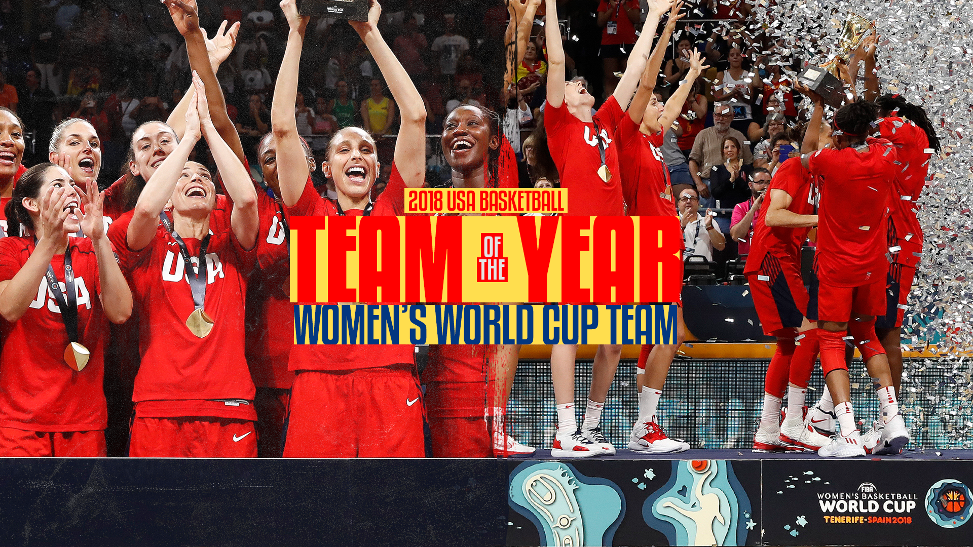 ff3f31df4 USA Women s World Cup Team Honored as the 2018 USA Basketball Team of the  Year