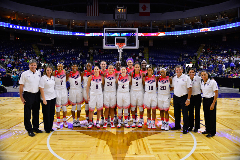 USA defeated Canada, 76-51, in an exhibition game on Sept. 15