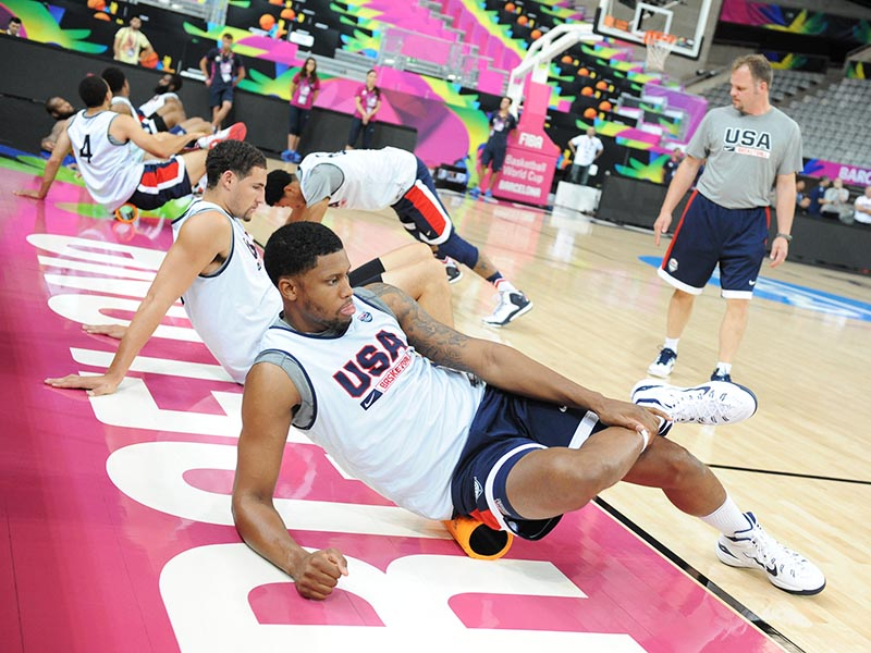 Players must prepare mentally and physically before taking the court.