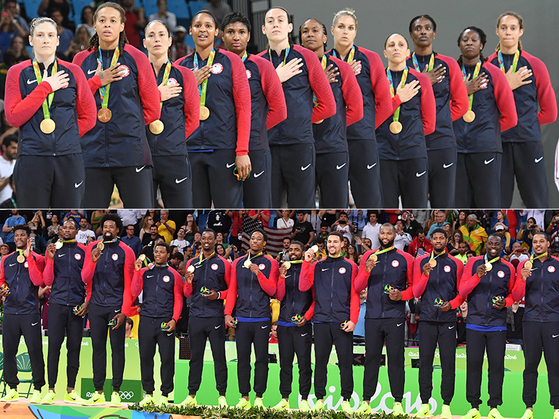 014040d43 U.S. Olympic Men s And Women s Basketball Teams Share 2016 USA Basketball  Team Of The Year Honor