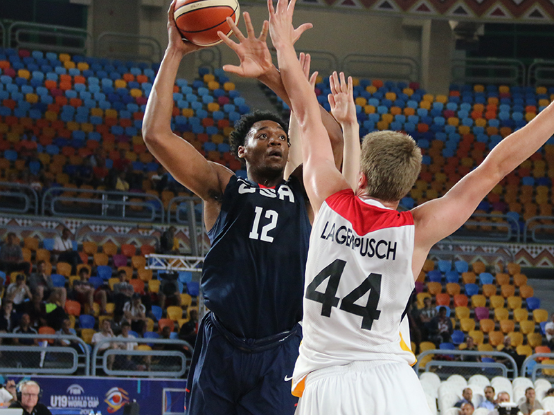 USA U19 Men Pull Away From Germany For 81-59 Quarterfinal
