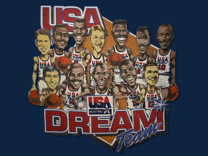 Dream Team Caricature Blue