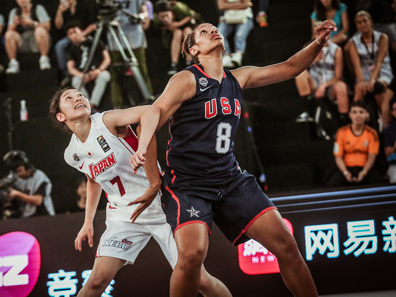 Alexis Jennings, who captured bronze at the 2016 3x3 World Championship, transferred to the University of South Carolina from the University of Kentucky, and is cheering on her team at the Final Four from the bench due to NCAA transfer rules.