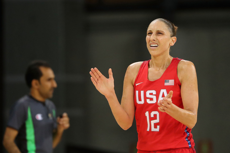 Diana Taurasi continued to shoot the ball well, finishing with a team-high 13 points.