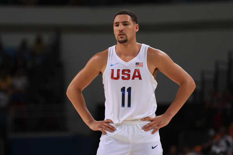 Klay Thompson grabbed a pair of rebounds to go with an assist.