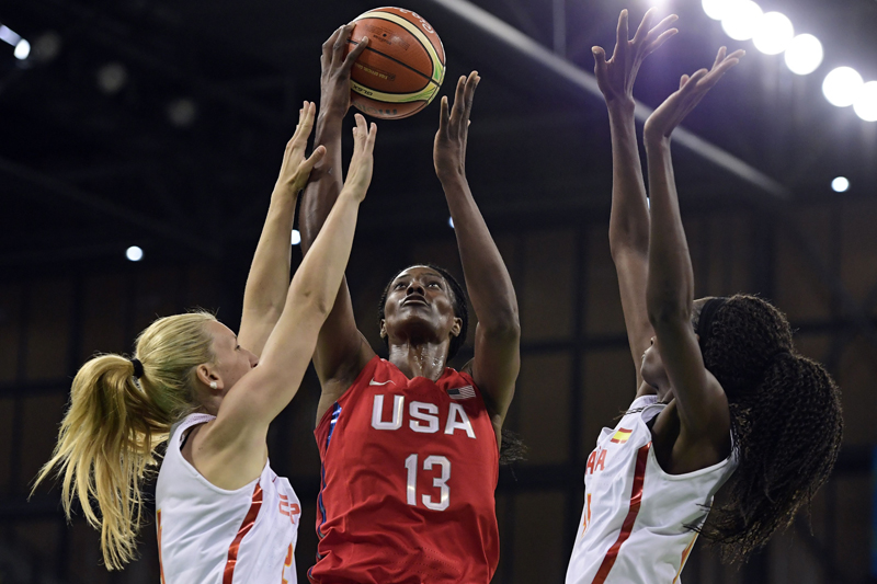 Sylvia Fowles was efficient on offense shooting 5-of-6 field goals, finishing with 12 points.