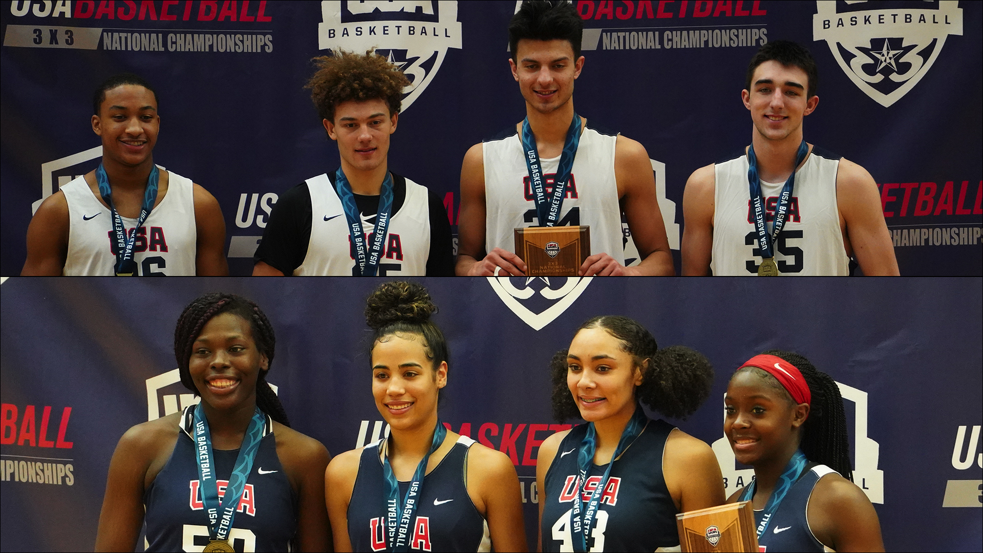 2019 USA Basketball 3x3 U18 Gold MEdalists