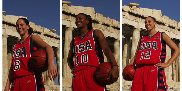 Sue Bird, Tamika Catchings, Diana Taurasi