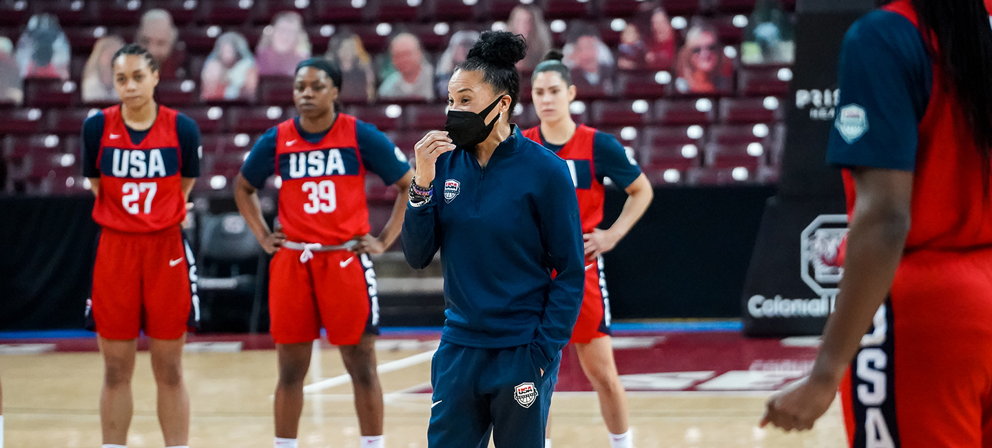 USA Basketball Women's National Team head coach Dawn Staley