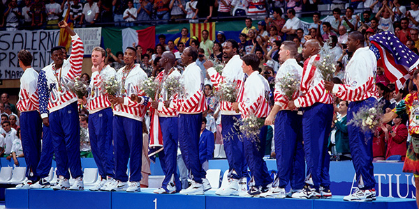 1992 Men's Olympic Medal Stand