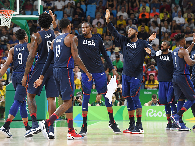 The U.S. Olympic Team during introductions.