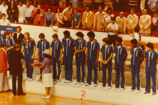 1976 Olympic women's medal stand