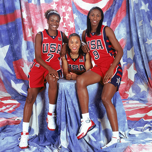 Sheryl Swoopes, Dawn Staley, Lisa Leslie