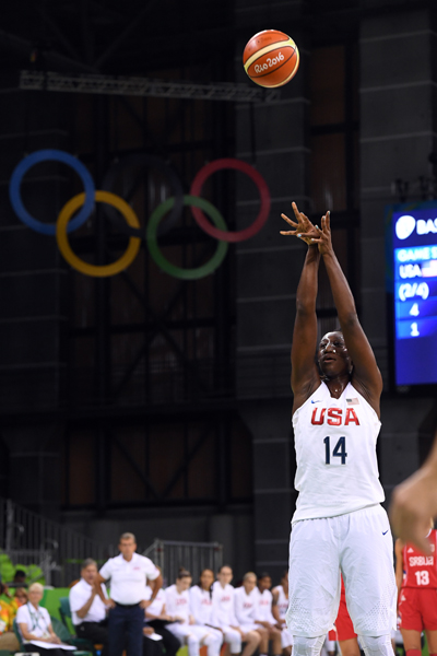 Tina Charles finished with 15 points and a game-high eight rebounds.