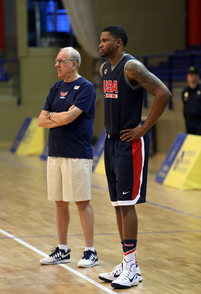 Jim Boeheim and Rudy Gay