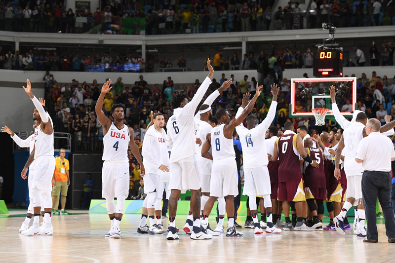 The U.S. Olympic Men's Basketball Team improved to 2-0 in the preliminary round of the 2016 Rio Olympic Games.