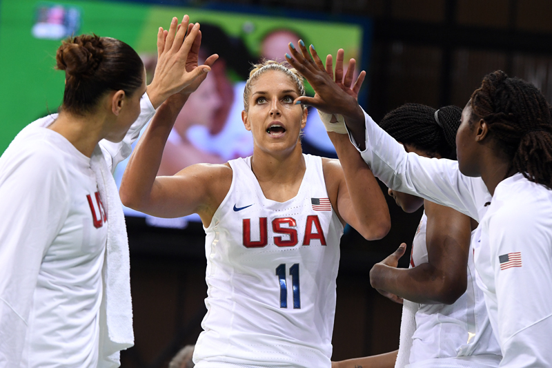 Elena Delle Donne finished with three assists and two points.