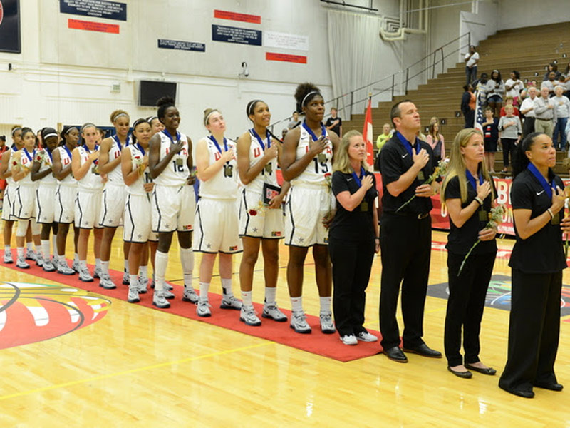 USA U18 Women in FIBA Americas Finals