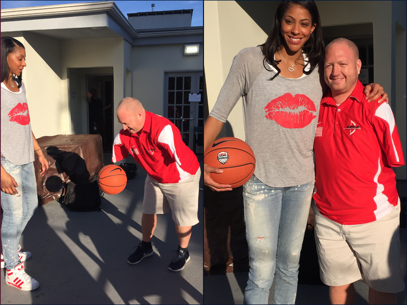 Candace Parker and Paralympic silver medalist Matt Stutzman