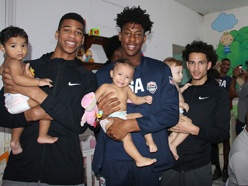 USA Basketball Men's U16 Team Visits Orphanage