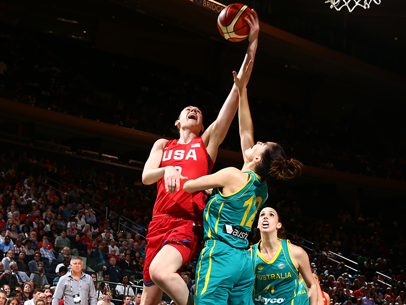 Breanna Stewart had four points against Australia.