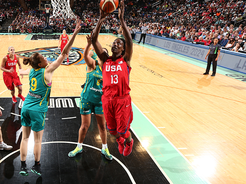 Sylvia Fowles had a strong game against Australia.