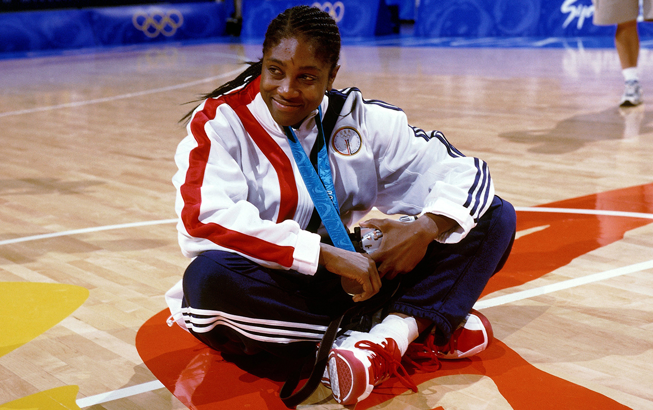 Teresa Edwards after winning her fifth Olympic medal.
