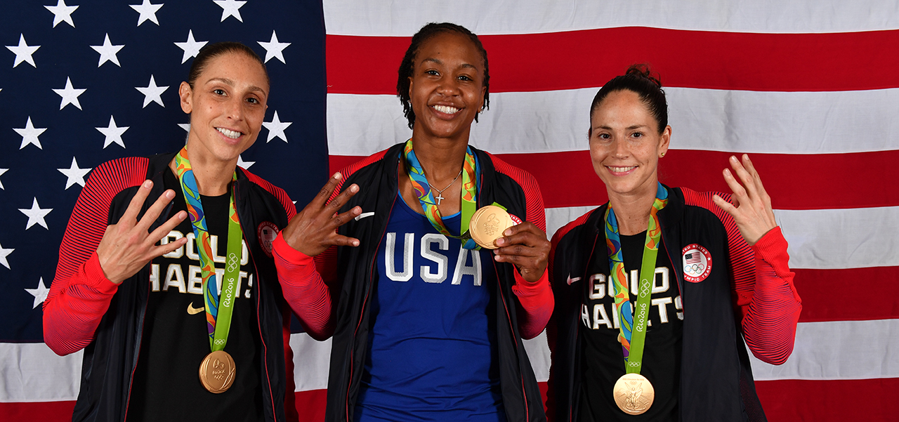 Diana Taurasi, Tamika Catchings, Sue Bird