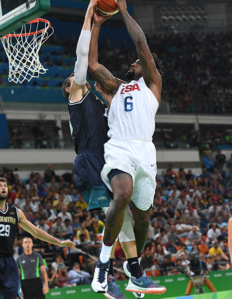 DeAndre Jordan collected four rebounds to go with his two points.