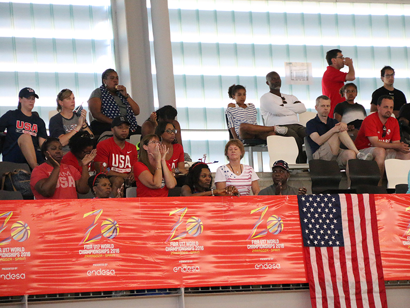 Part of the USA's cheering section.
