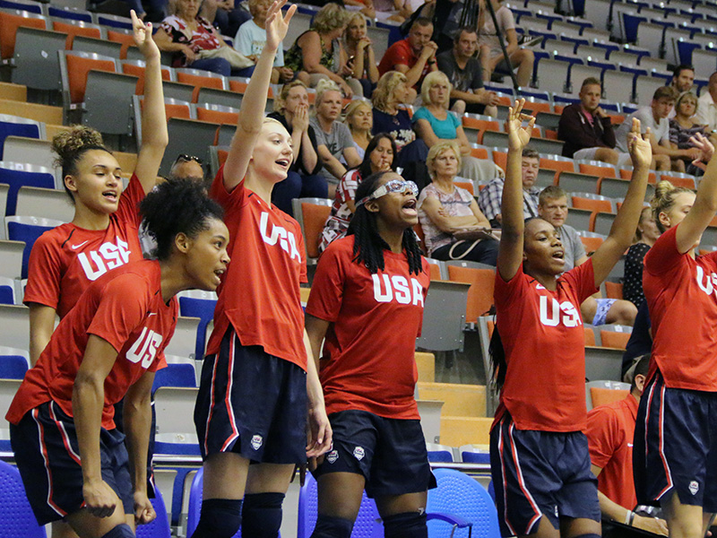 USA Basketball U17 Women vs LAtvia