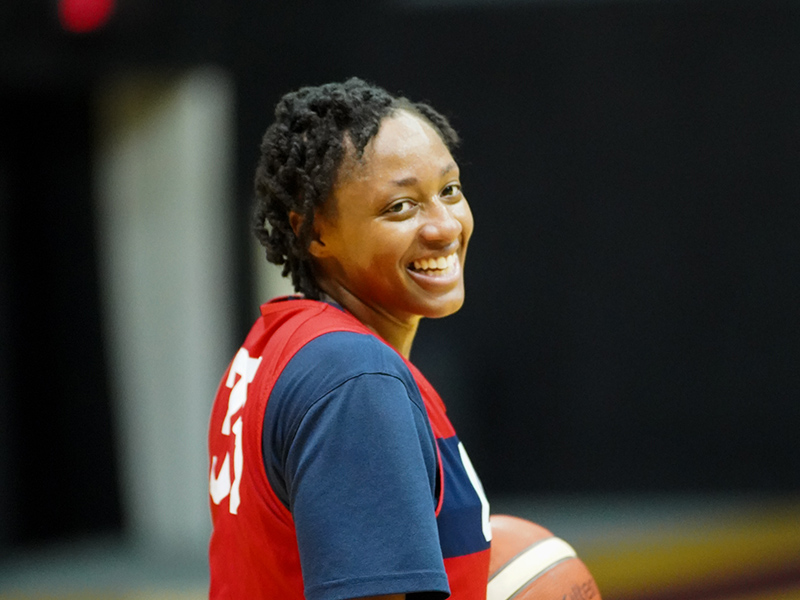 Kelsey Mitchell is ready to put in some work.