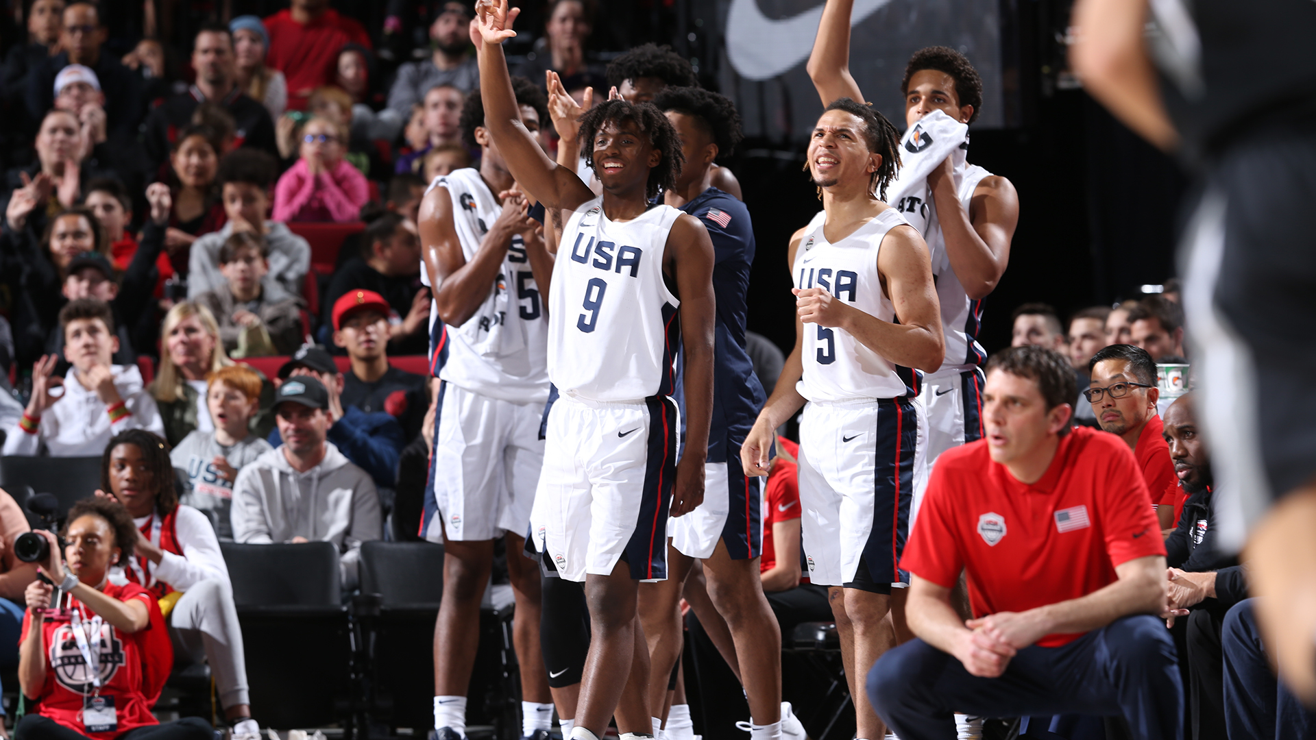 2019 USA Nike Hoop Summit Team bench