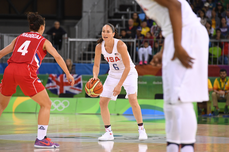 Sue Bird finished the game with three assists, two points, two rebounds and two steals.
