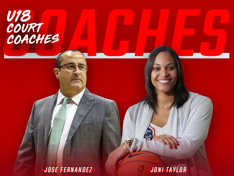 2018 USA Women's U18 Court Coaches