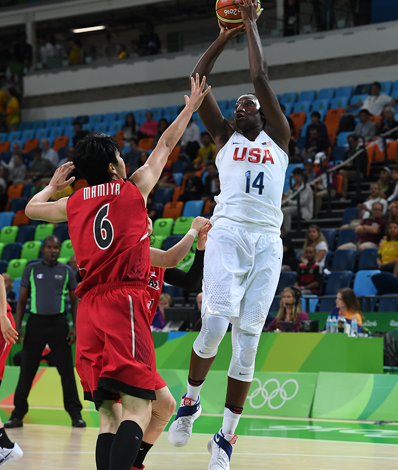 Tina Charles collected six rebounds and dished out five assists.